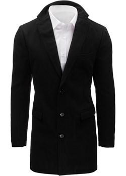Płaszcz męski czarny (cx0360) Dstreet  okazyjna cena   - kod rabatowy