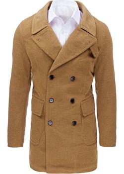 Płaszcz męski zimowy kamelowy (cx0362)  Dstreet okazja   - kod rabatowy