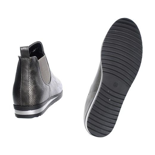 b903a0f0e41fd ... BOTKI SZTYBLETY SPORTOWE SZARE szary Family Shoes 36 ...
