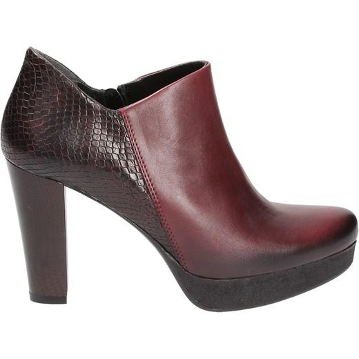 b235bf7693e5b Bordowe botki damskie MACIEJKA Maciejka 39 Wojtowicz Awangarda Shoes ...