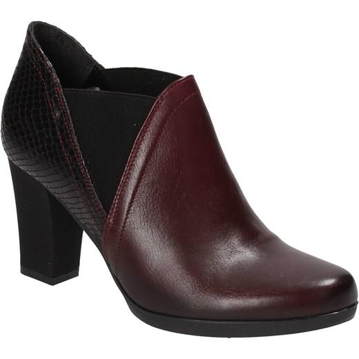 d4f1fbebb5d2f ... Bordowe botki damskie MACIEJKA Maciejka 39 Wojtowicz Awangarda Shoes