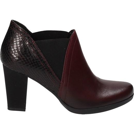 9de7ec7100a41 Bordowe botki damskie MACIEJKA Maciejka 36 Wojtowicz Awangarda Shoes ...