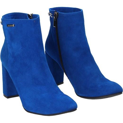 0e0fa4432d920 Niebieskie botki damskie WOJTOWICZ Wojtowicz 36 Wojtowicz Awangarda Shoes  ...
