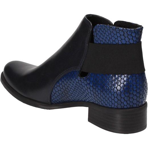 a5b58ed5bf35d ... Czarno-niebieskie trzewiki damskie WOJTOWICZ Wojtowicz 36 Wojtowicz  Awangarda Shoes ...