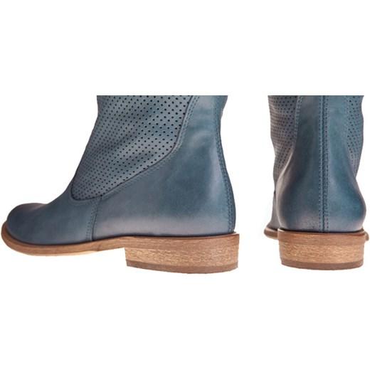 3fd3827645d26 PIĘKNE KOZAKI AŻUROWE SKÓRA W GRANACIE 300 GR lafemmeshoes-pl zielony  abstrakcyjne wzory. Zobacz: Lafemmeshoes