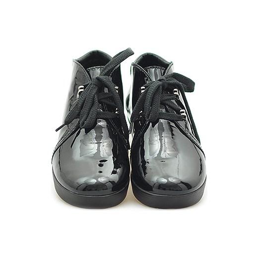 4103f4e69ff75 Botki But-S Y092-BA0-0P0 Czarne Lakier arturo-obuwie szary w Domodi