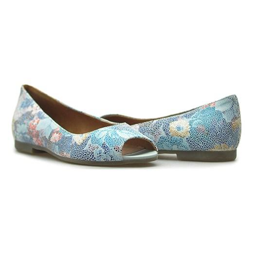 45187b8e787 Baleriny Ryłko I1LJ1_TD3F Różnokolorowe zamsz niebieski Arturo-obuwie