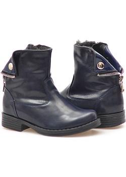 Botki dziecięce Kornecki 4584 Granatowe arturo-obuwie szary Botki - kod rabatowy