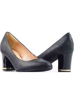 Pantofle Eksbut 3268-B57 Czarne arturo-obuwie szary Czółenka klasyczne - kod rabatowy