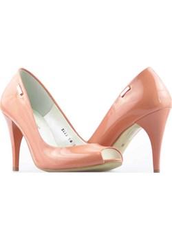 Czółenka Neścior 099-Y Różowe arturo-obuwie pomaranczowy Czółenka - szpilki - kod rabatowy