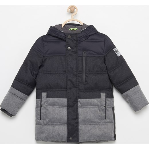 a292045ff9f95 Reserved - Ocieplana kurtka o przedłużonym kroju - Szary Reserved szary 128