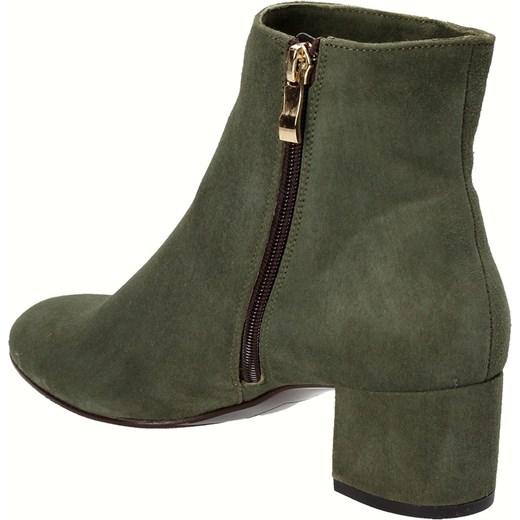 c08ff4fc7aeb4 ... Zielone botki damskie WOJTOWICZ Wojtowicz szary 40 Wojtowicz Awangarda  Shoes ...