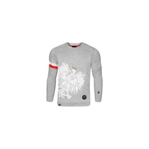 fdf34f9bd80d Bluza patriotyczna Orzeł Sport Opaska jasny melanż (B.SUR.800) szary Surge  ...