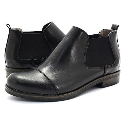 0c69989eff12e BLU 701022 CZARNY - Skórzane sztyblety, botki szary Tymoteo.pl sklep  obuwniczy w Domodi