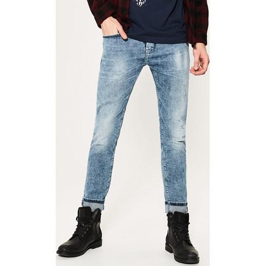 House jeansy skinny niebieski brazowy House jeansy