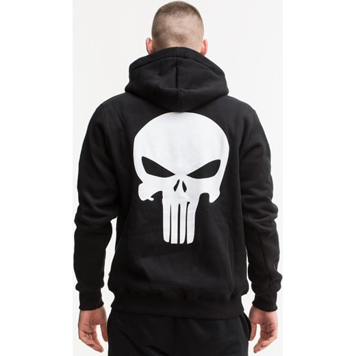 5e39b208d Punisher Marvel Comics Back Logo Zip Hoody Black czarny UrbanCity.pl w  Domodi