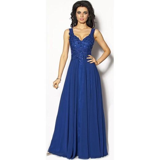 07b409fc67 Szafirowa sukienka Maxi Model IP-2638 IP-2638 M M Studio Mody w Domodi