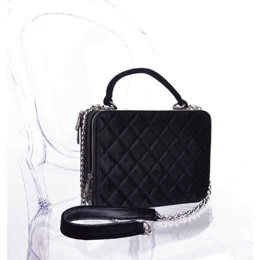 12d7a75218020 Czarna elegancka torebka kuferek czarny MadamRock w Domodi