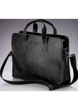 SOLIER S05 elegancka czarna męska torba na ramię, torba na laptop skorzana-com  miękkie - kod rabatowy