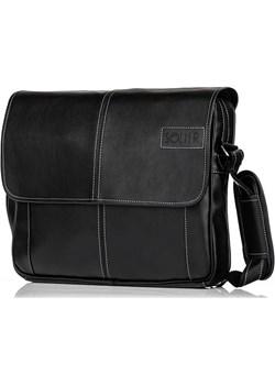 Stylowa torba męska na ramię casual SOLIER S15 czarna czarny Solier Skorzana.com - kod rabatowy