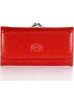 P8 czerwony portfel skórzany damski skorzana-com czerwony naturalne - kod rabatowy