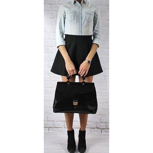 e5ed46c5e28b9 ... DAN-A T121 czarna torebka skórzana damska teczka aktówka skorzana-com  czarny glamour