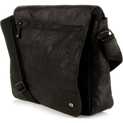 262eef6e1273c ... DAAG Jazzy Run 4 skórzana torba na ramię unisex czarna skorzana-com czarny  rockowy ...