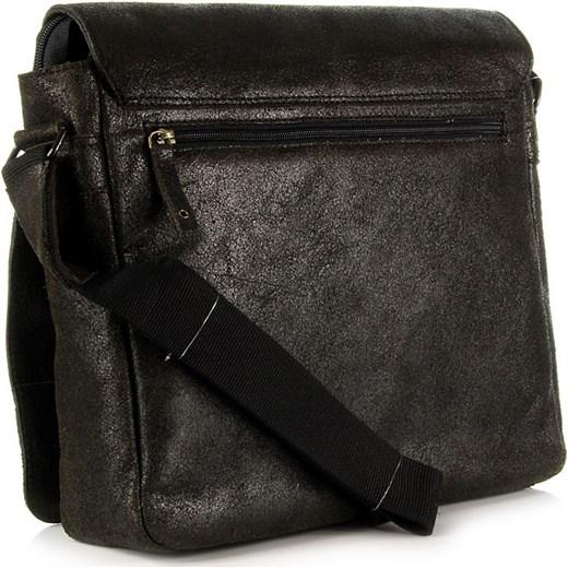 2672dbf47688a ... czarny rockowy  DAAG Jazzy Run 4 skórzana torba na ramię unisex czarna  skorzana-com szary skóra ...