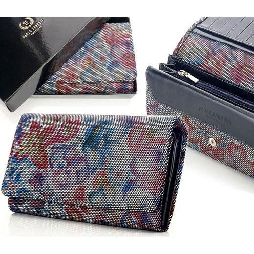 dcd1728fcd0a5 PAOLO PERUZZI ekskluzywny skórzany portfel damski w pudełku GA93  skorzana-com szary elegancki w Domodi