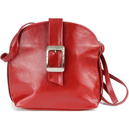 6ef95f0061a8c DAN-A T29 czerwona torebka skórzana damska listonoszka skorzana-com czerwony  na ramię