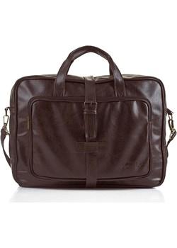 SOLIER S10 oldschool brązowa torba męska na ramię, torba na laptopa 17 cali skorzana-com szary na laptopa - kod rabatowy