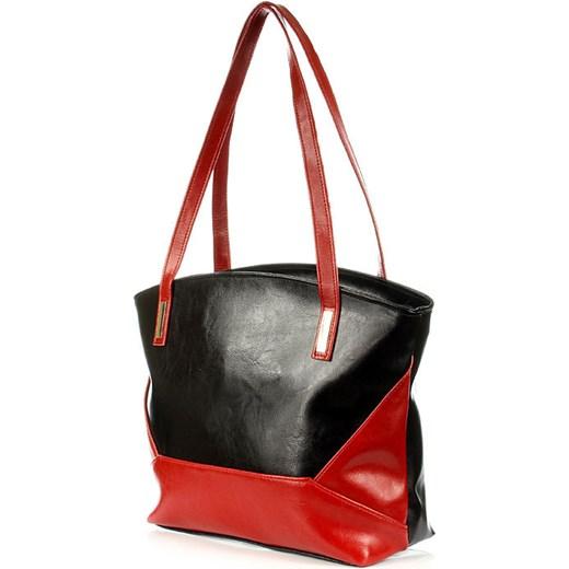e3568bb9086b0 ... skóra · DAN-A T286 czarno - czerwona torebka skórzana damska skorzana-com  bialy glamour ...