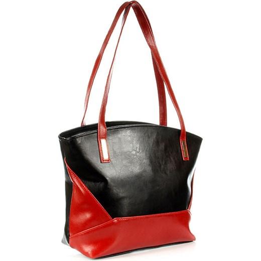 c430baa93440e ... DAN-A T286 czarno - czerwona torebka skórzana damska skorzana-com bialy  skóra ...