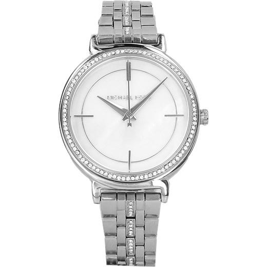 b982b7bdf4153 Zegarek Michael Kors MK3641 Cynthia srebrny bialy Oficjalny sklep Allegro