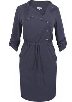 Sukienka plus size Shila granatowa szary La Venne Semper - kod rabatowy