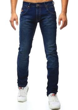 Spodnie jeansowe męskie niebieskie (ux1000) Dstreet granatowy  - kod rabatowy