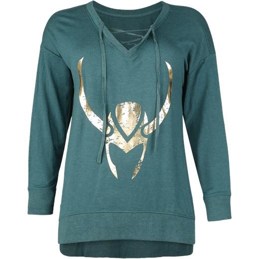 931916f07 Thor Her Universe - Loki - Goldener Helm Sweter damski petrol melanż  zielony Thor 4XL EMP ...