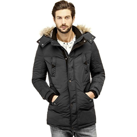 PARKA CONTEMPORARY szary Guess  splendear.com