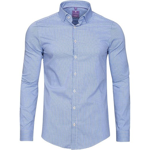 Koszula Męska Redmond Slim 52800 13015 niebieski SMA w Domodi  jCoWH
