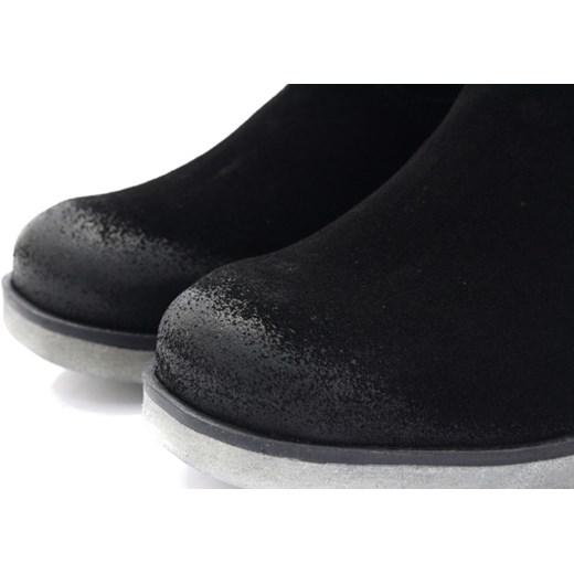 7be31af78e538 BLU 701090 CZARNY - Nieocieplone kozaki welurowe czarny Blu 38 Tymoteo.pl -  sklep obuwniczy 3