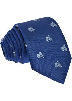 Krawat jedwabny - skutery Republic Of Ties niebieski  - kod rabatowy
