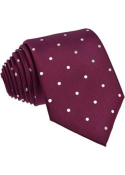 Krawat jedwabny w grochy (bordowy) czerwony Republic Of Ties  - kod rabatowy