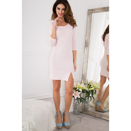 d016b072d8b2 ... Bladoróżowa Sukienka z Wiązaniem Gorsetowym 3273 fasardi L okazyjna  cena fasardi.com ...
