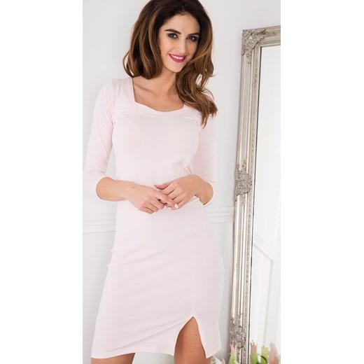 9126043ff1b6 ... Bladoróżowa Sukienka z Wiązaniem Gorsetowym 3273 fasardi L promocja  fasardi.com ...