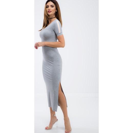 b978ec4545 ... Szara długa sportowa sukienka 3377 fasardi S okazyjna cena fasardi.com  ...