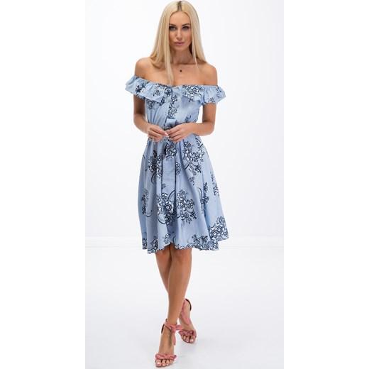 67694d6e Jasnoniebieska sukienka zapinana na guziki 21553 fasardi fasardi.com