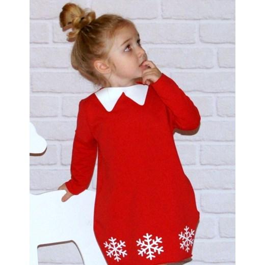 0cf8dad847 Sukienka Christmas czerwona De Luzz czerwony showroom.pl w Domodi