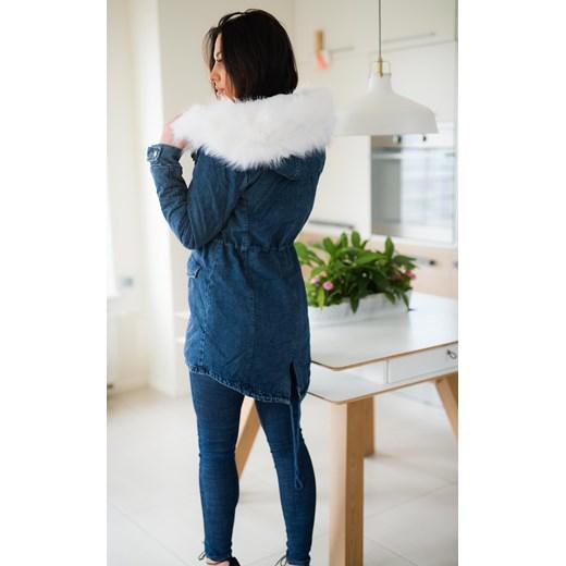 cd8b7ad7acc8a ... Z826 Zimowa kurtka damska jeansowa parka z futrem rozmiar xs s m l  Woman Top Fashion szary XS ...