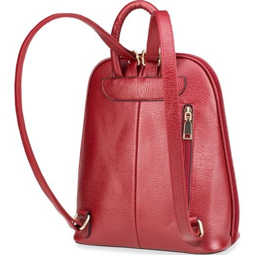 83d5dc9b63c92 ... Elegancki plecak damski usztywniany pleciony panel – czarny czerwony  world-style.pl