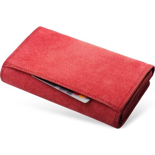 3e1801dad8393 ... Skórzany nubuckowy portfel damski tłoczony Always Wild rozowy world-style.pl  ...